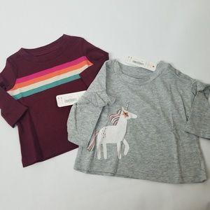 Bundle of 2 Gymboree girls long sleeve tee shirts